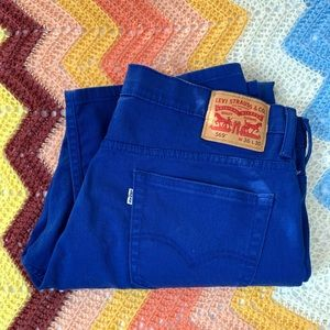 Levi's 569 Bright Blue Denim Straight Leg Jeans 36